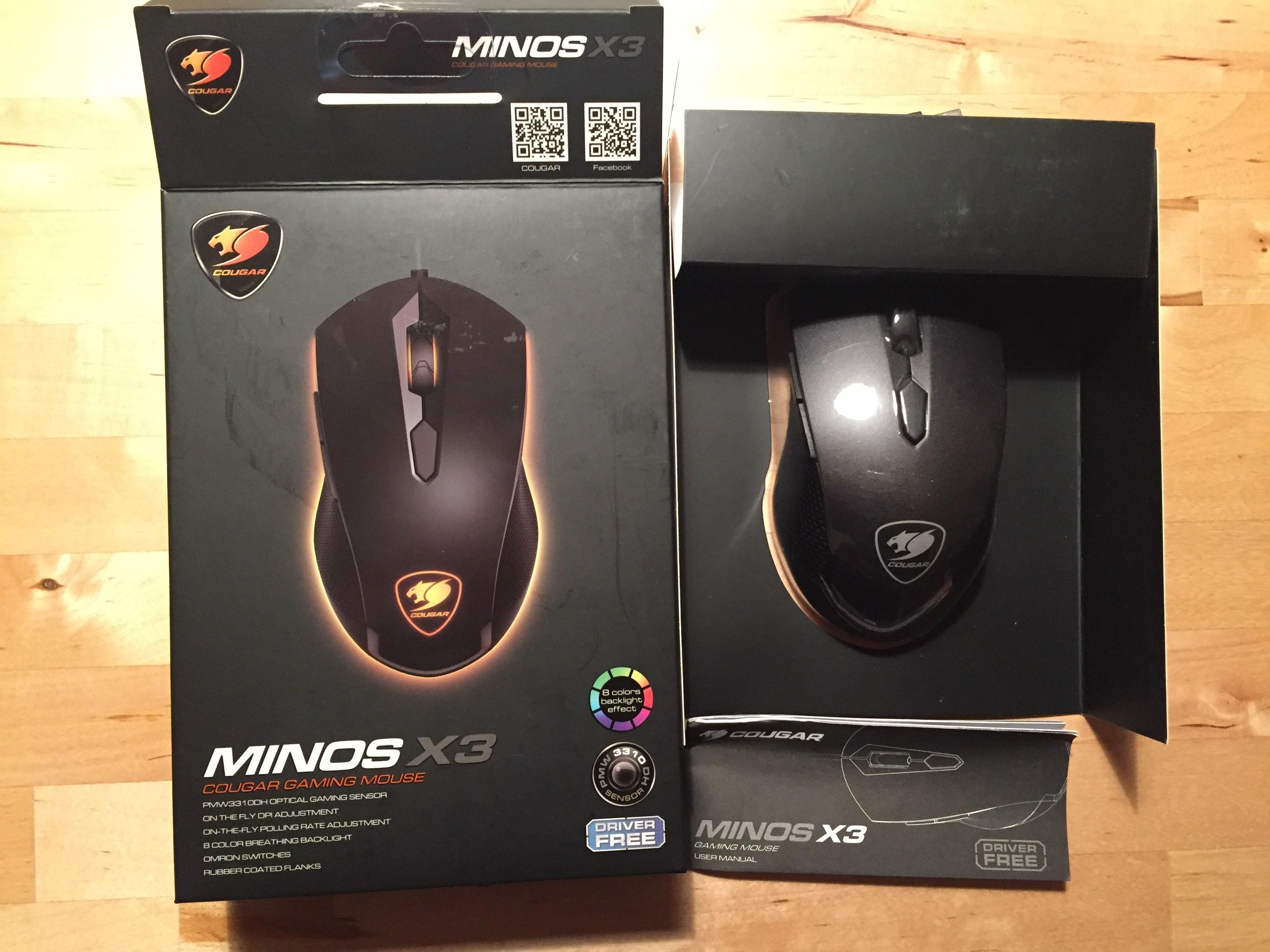 Minos X3 Verpackung