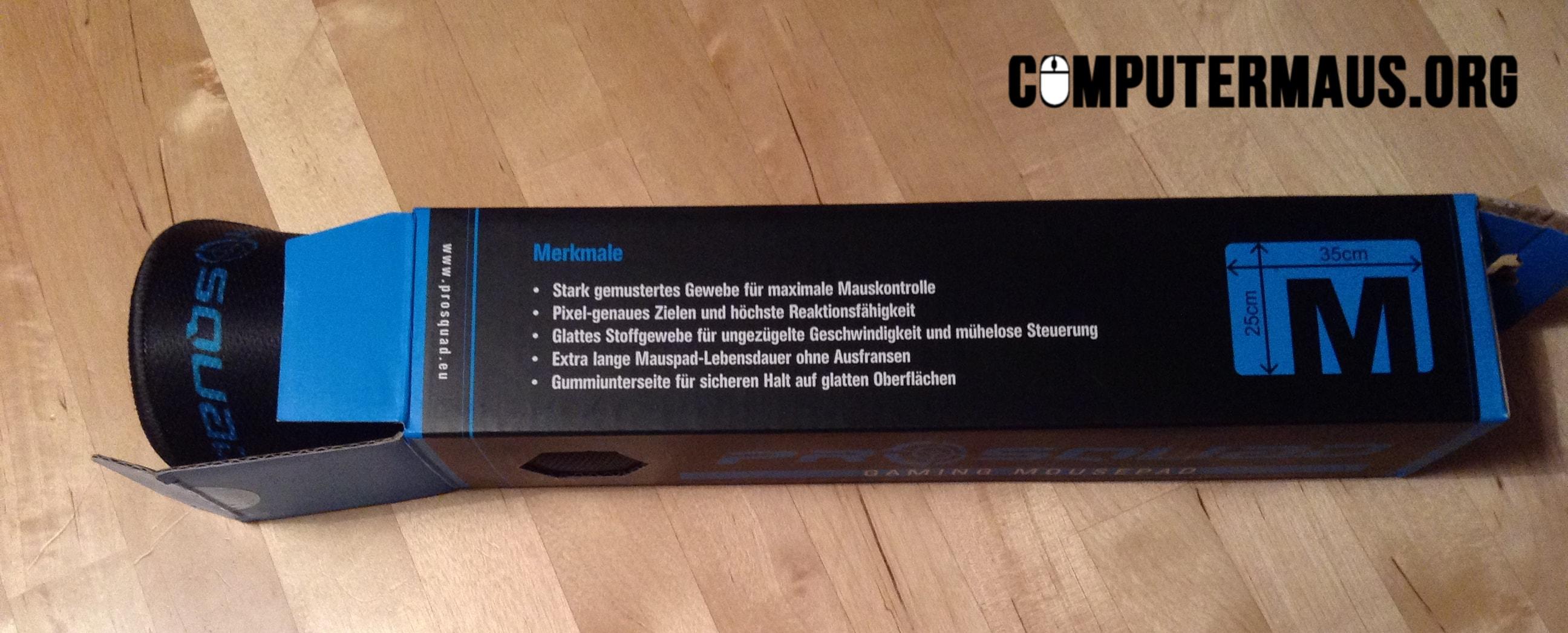 ProSquad Mauspad Verpackung